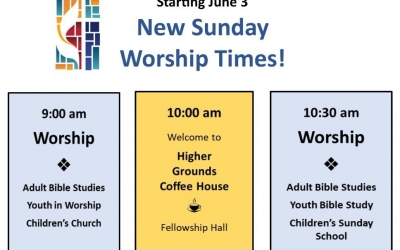 New Sunday Worship Schedule