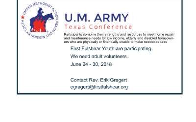 U.M. Army Texas Conference