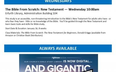 Adult Bible Studies Winter 2019