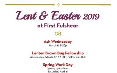 Lent and Easter Calendar