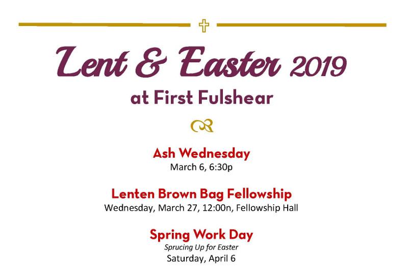 Lent and Easter Calendar