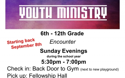 Youth Ministry Fall 2019
