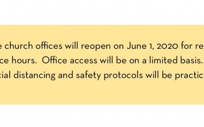 Office Reopens June 1