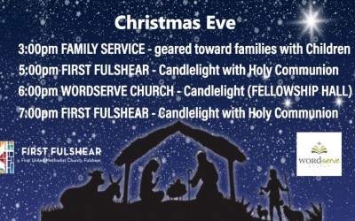 Christmas Eve Services (RESERVATIONS REQUIRED FOR ALL SERVICES)