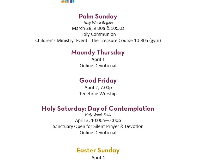 Holy Week & Easter