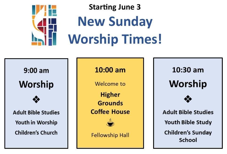 New Sunday Worship Schedule