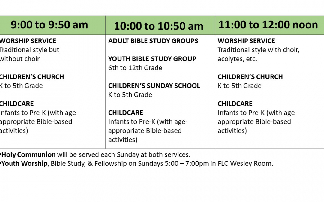 Sunday Schedule